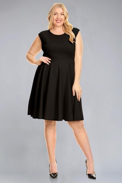 Round Neck Plus Size Dress | Plus Size - Simlu Clothing | Plus size ...