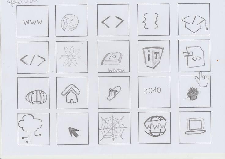 Informatietechnologie iconen