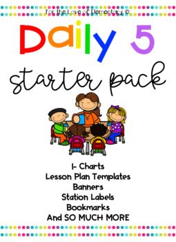 This bundle is filled with everything you need to start Daily 5 in your classroom!!!! In this packet you will find: Daily 5 Banner Station Buttons Rotation headers Group Headings Daily 5 I-Charts Daily 5 Rules EEKK Chart I-PICK Chart 3 Ways to Read a Book Poster