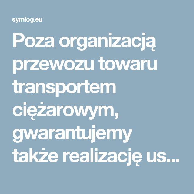 Poza organizacją przewozu towaru transportem ciężarowym, gwarantujemy także realizację usług dodatkowych związanych ze zleconą spedycją takich jak:  przeładunek towaru; przekazy i odprawy celne; ubezpieczenie Cargo.