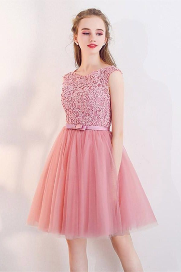 0677f157b1b Custom Made Feminine Prom Dresses 2019 A-Line Cap Sleeves Appliques ...