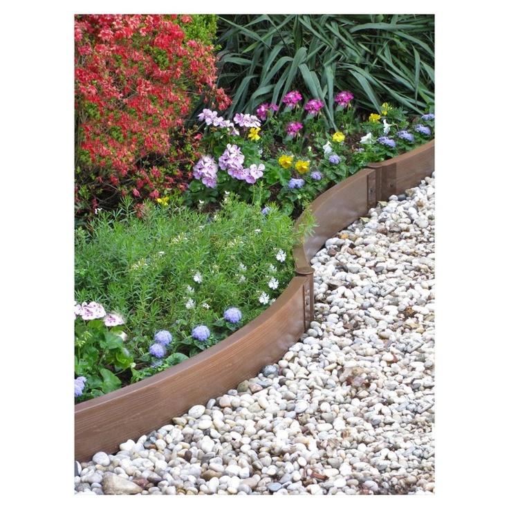 73 best reunoja ja rajauksia borders images on pinterest for Homemade garden edging ideas