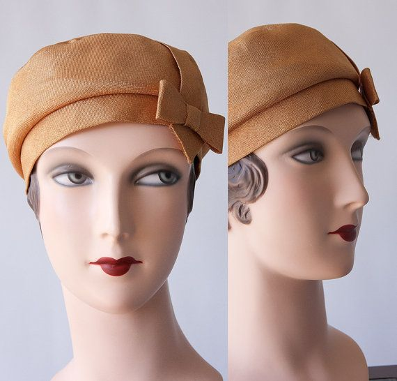 NITA HATS of DALLAS Harvest Gold Hat Vintage by TheVelvetFirefly