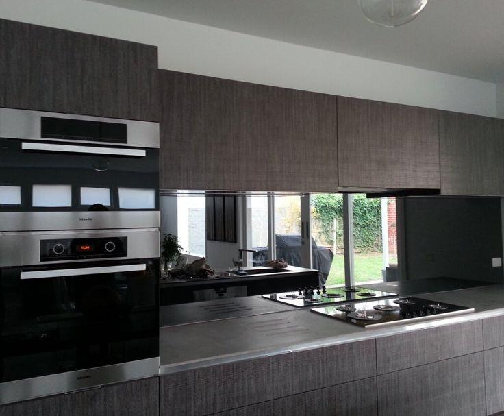 Grey Tint Mirror Shield Splashback Living Kitchen