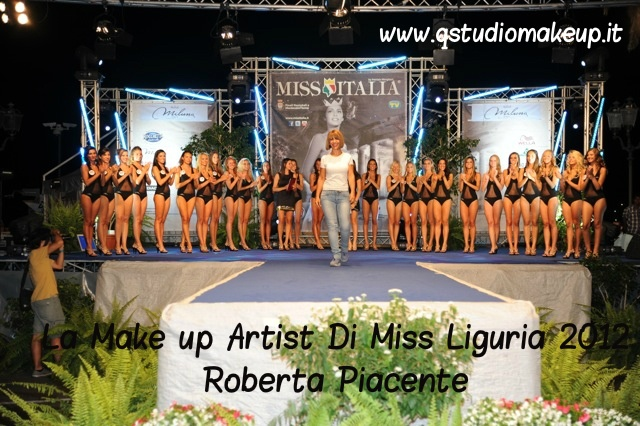 Make up Artist Roberta Piacente - Miss Italia Liguria 2012