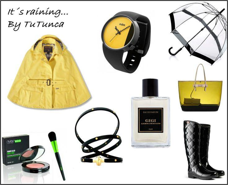Un look para un día de lluvia, pulsera Antonio Ben Chimol, Reloj Odm Nueva Colección, Pack Colorete Nvey Eco y un elegante perfume de mujer Gigi http://www.tutunca.es/reloj-amarillo-odm-studio-correa-gel-negra http://www.tutunca.es/pulsera-cuero-negro-tachuelas-doradas belleza.tutunca.es/pack-brocha-y-colorete-nvey-eco http://belleza.tutunca.es/agua-de-perfume-mujer-gigi-jardins-d-ecrivans-100-ml
