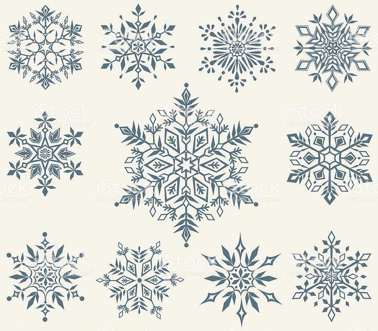 vector set of decorative snowflakes Schneeflocke