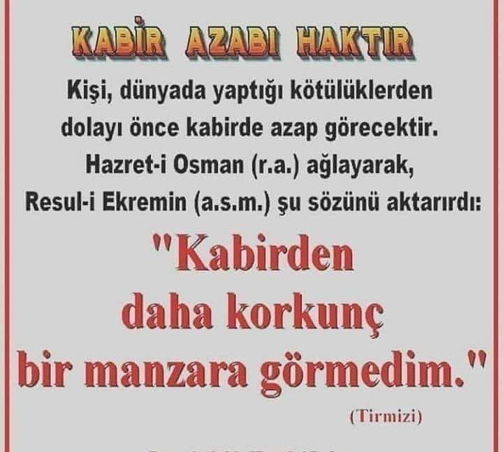 Cubbeli Ahmet Hoca Nac On Instagram Kabir Azabi Haktir