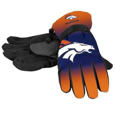 Denver Broncos Gloves Insulated Gradient Big Logo Size Small/Medium #DenverBroncos