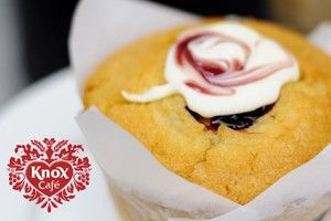 Raspberry & Cream Muffin -Knox Cafe - Photography Con Tsioukis - ICON PHOTOGRAPHY MELBOURNE - www.iconphotos.com.au