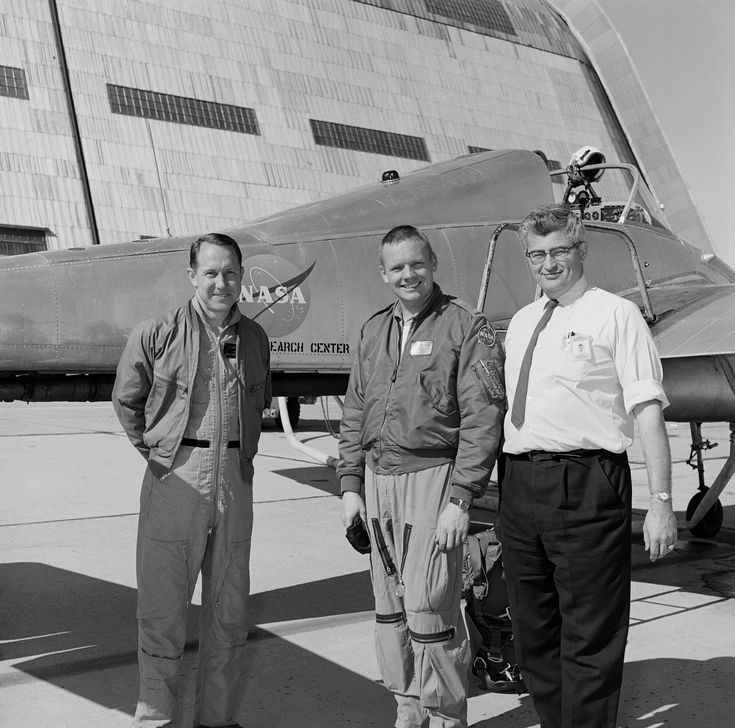 Armstrong at Ames in front of the Bell X-14