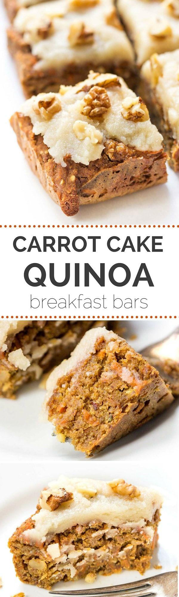 vengan carrot cake bars