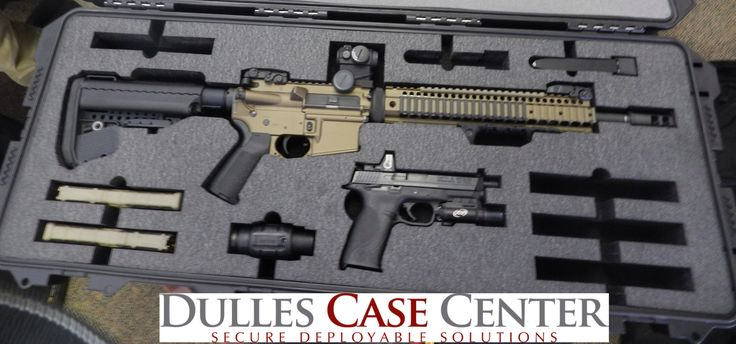 Custom Foam Custom Gun Cases.  A Pelican Storm iM3100 with custom foam for a Stag Arms AR15 and a S&W M&P 9...and mags and accessories