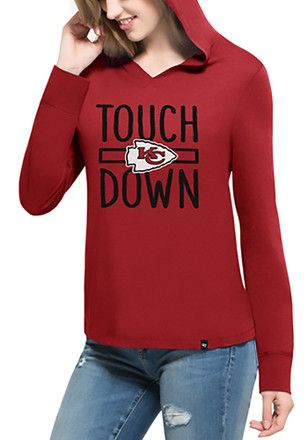 buy popular 5fedc 53009 47 Kansas City Chiefs Womens Red Crosstown Hoodie | NFL ...
