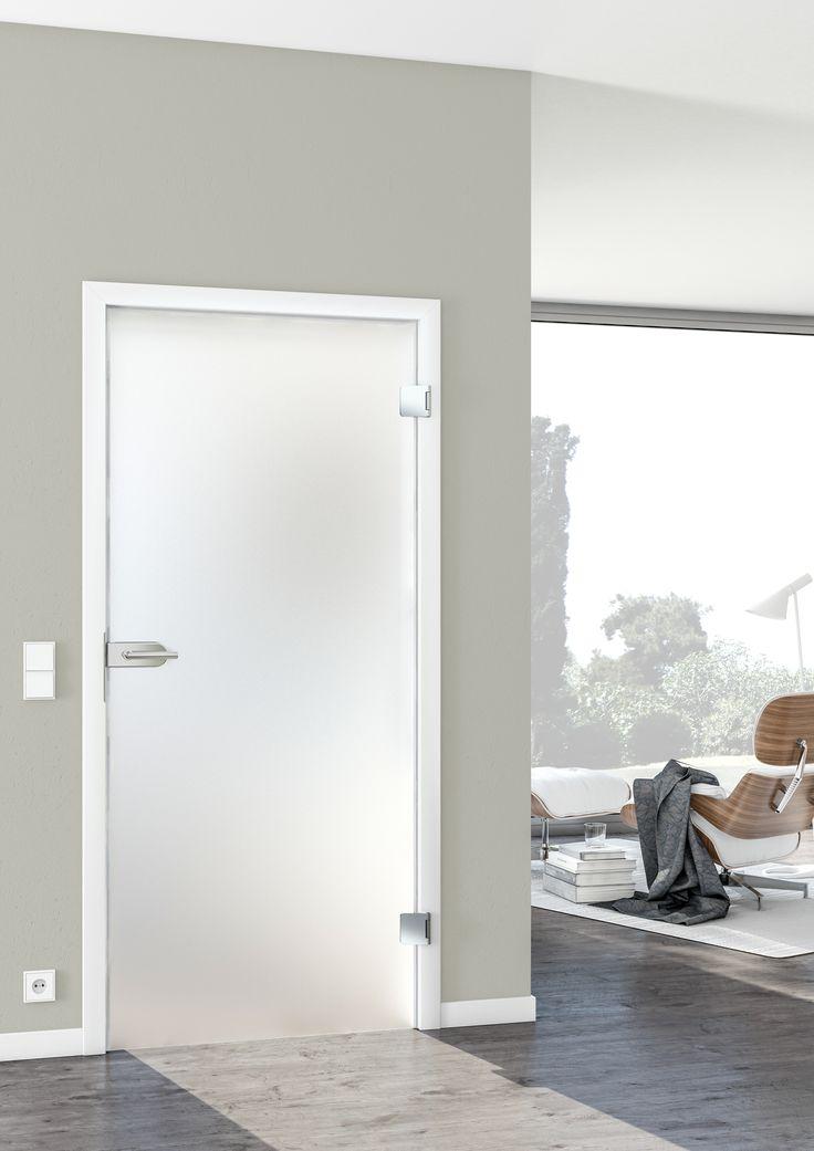 Eine Glastür aber bitte ohne Durchsicht! Wer es gern puristisch mag, wird in unserer Linie Pur+ fündig. Hier unsere Glastür Satinato für ein mattes Glas.