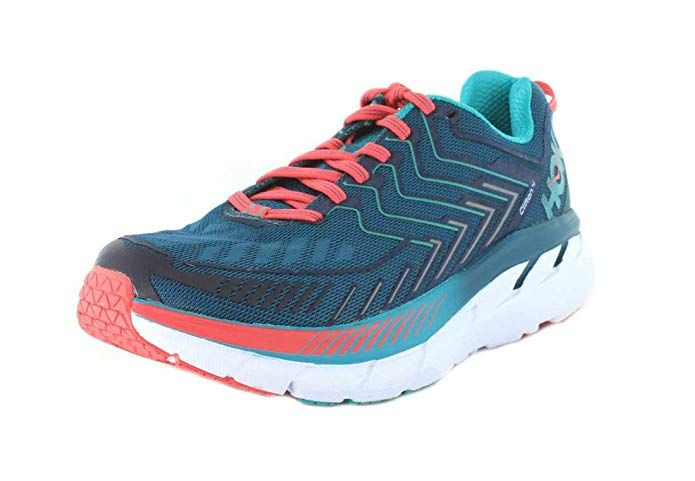 best sneakers e6dcb bd2ea HOKA ONE ONE Women 10.5 B M Blue Coral Ceramic Clifton 4 Training Running  Shoe