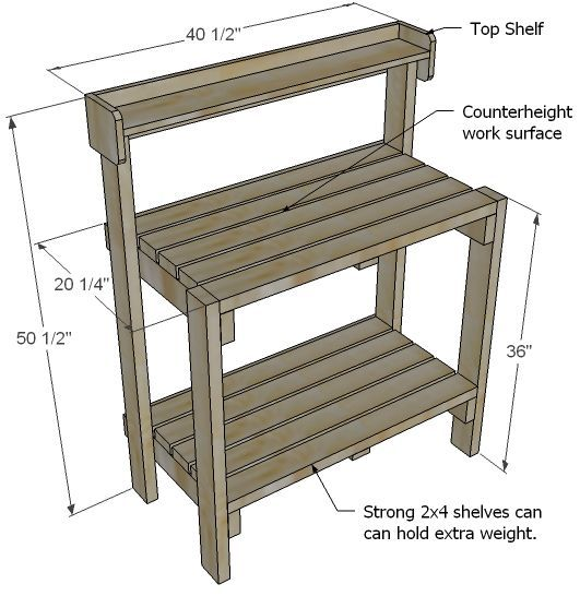 Ana White   Build a Simple Potting Bench   Free and Easy DIY Project and Furniture Plans