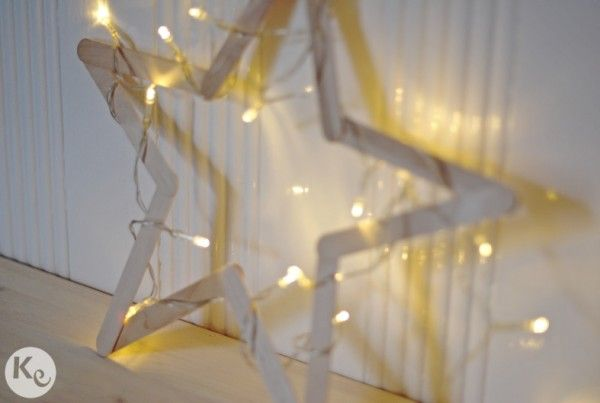 DIY. Wood star #christmas #decor
