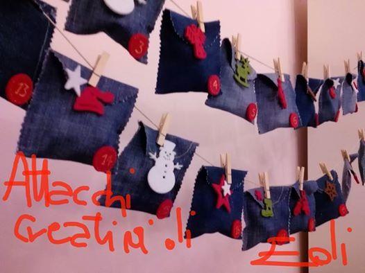 calendario dell'avvento con i jeans vecchi https://www.facebook.com/pages/Attacchi-Creativi-di-Edi/613346308677223
