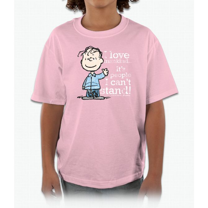 The Peanuts Gang: Linus Charlie Brown Kids and Youth T-Shirt