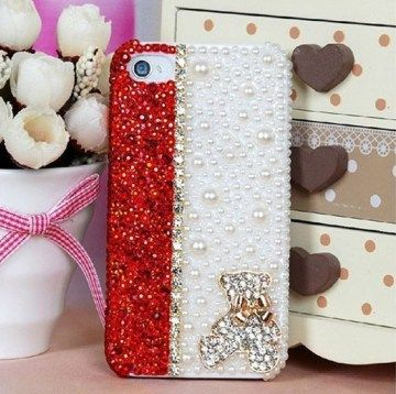 Pearl Rhinestone Cover For Iphone 4 and 5