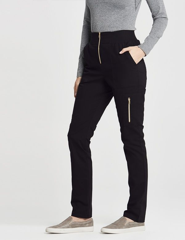 The High Waisted Pant is a contemporary addition to women's medical scrub outfits. Shop Jaanuu for scrubs, lab coats and other medical apparel.