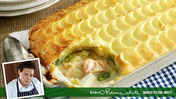 Marco's Classic Fish Pie - instea of cream, I used coconut milk.