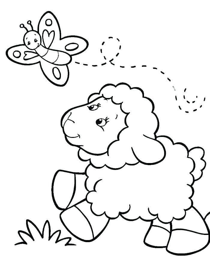 Lion Lamb Coloring Page Youngandtae Com Butterfly Coloring Page Coloring Pages Animal Coloring Pages