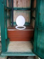 long drop toilets for your comfort outhouses dunnys. Black Bedroom Furniture Sets. Home Design Ideas