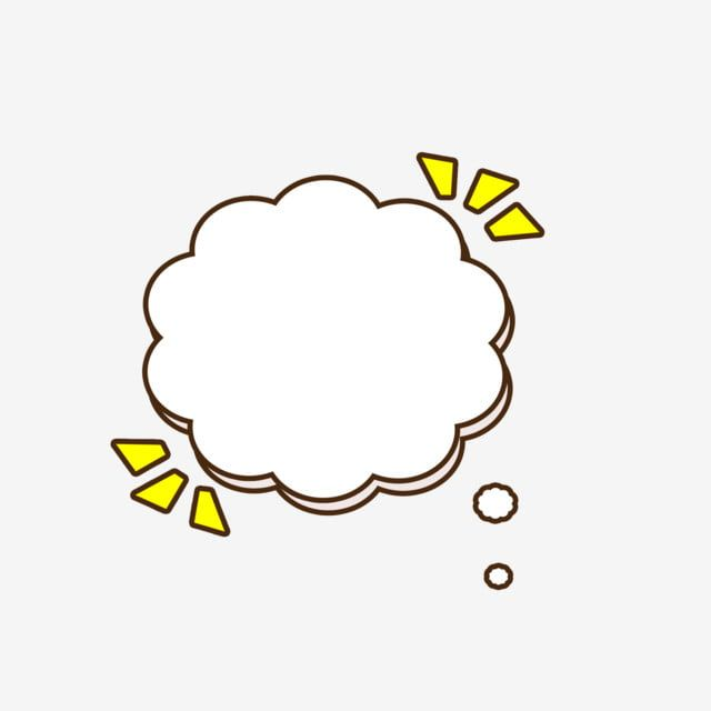 Cartoon Cute Yellow Cloud Bubble Box Dialog Border Element Yellow Cartoon White Clouds Png Transparent Clipart Image And Psd File For Free Download In 2020 Yellow Cloud Dialogue Bubble White Clouds