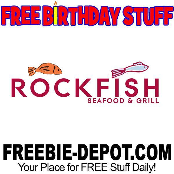 ►► BIRTHDAY FREEBIE - Rockfish Seafood Grill ►► #BDay, #Birthday, #BirthdayFreebie, #BirthdayGift, #FreeBirthdayStuff, #FrugalFind, #FrugalLiving, #HappyBirthday ►► Freebie Depot