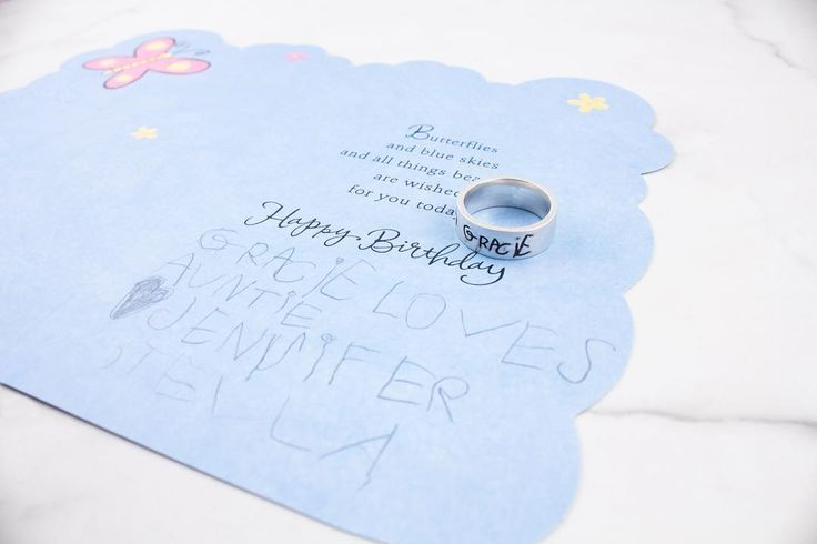 The cutest custom handwriting sample ring to brighten up your Wednesday 💖🖍😍