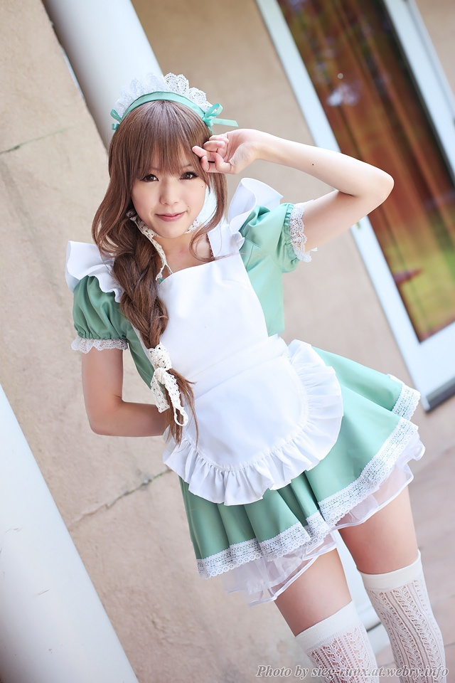Busty asian idol maid