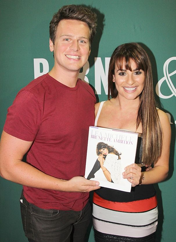 Spring Awakening Reunion! Jonathan Groff Joins BFF Lea Michele at Her Brunette Ambition Book Signing