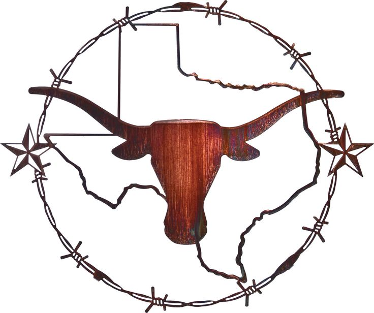 Texas Longhorn Laser Cut Metal Wall Art