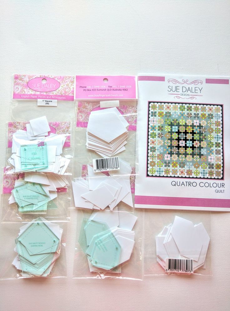 Quatro Colour Quilt- Sue Daley Designs- English Paper Piecing Kit