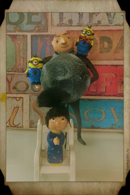 Купить Авторская интерьерная кукла Гру и компания. Миньоны, Гадкий Я - разноцветный, миньон, миньоны