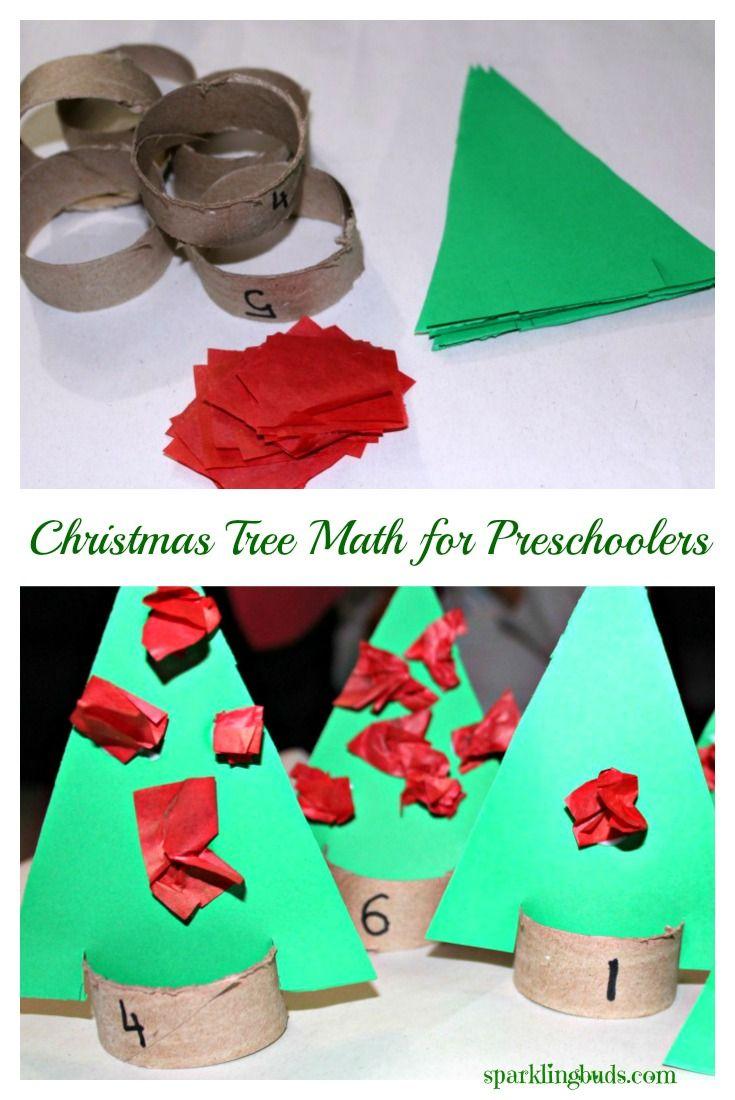 Simple hands on math activity idea for preschoolers