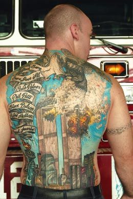 amazing back peice in rememberence of 9/11 | Tattoos ...