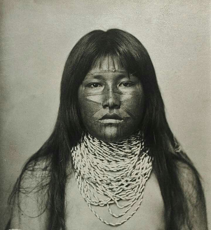 """""""Pima Belle,"""" ca.1900. A young, unmarried woman with painted face, near Scottsdale, Arizona."""