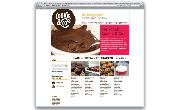 cookie & co website design by daily milk