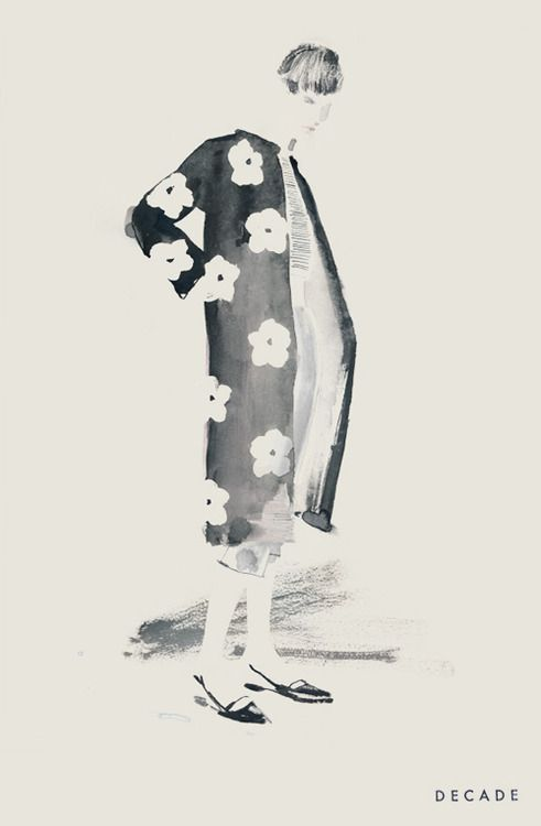 Bernadette Pascua illustration. Prada Spring 2013 campaign