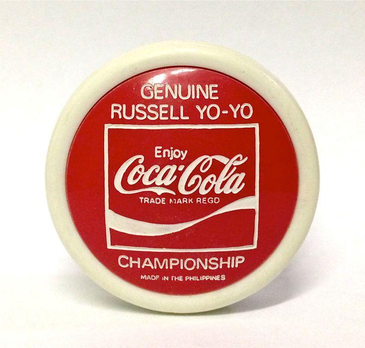 GENUINE 1970's COCA COLA RUSSELL CHAMPIONSHIP YO-YO - NEW OLD STOCK