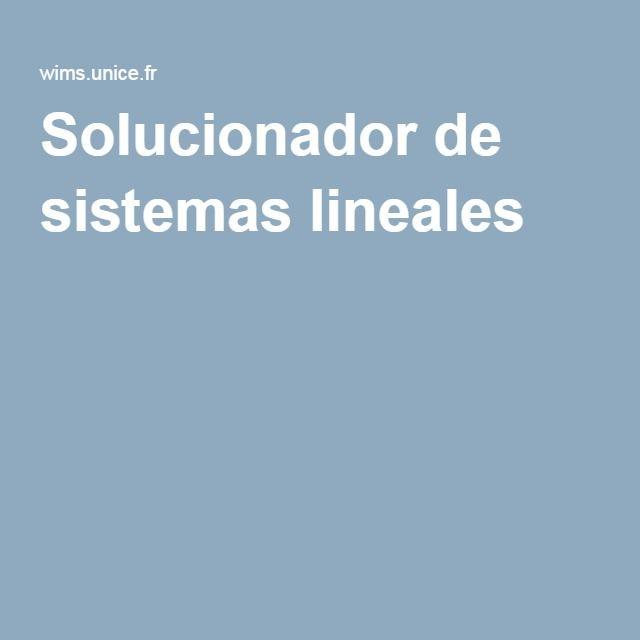 Solucionador de sistemas lineales