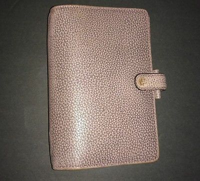 Filofax Finsbury Personal Antique Rose Binder 6-ring Planner Pink Leather