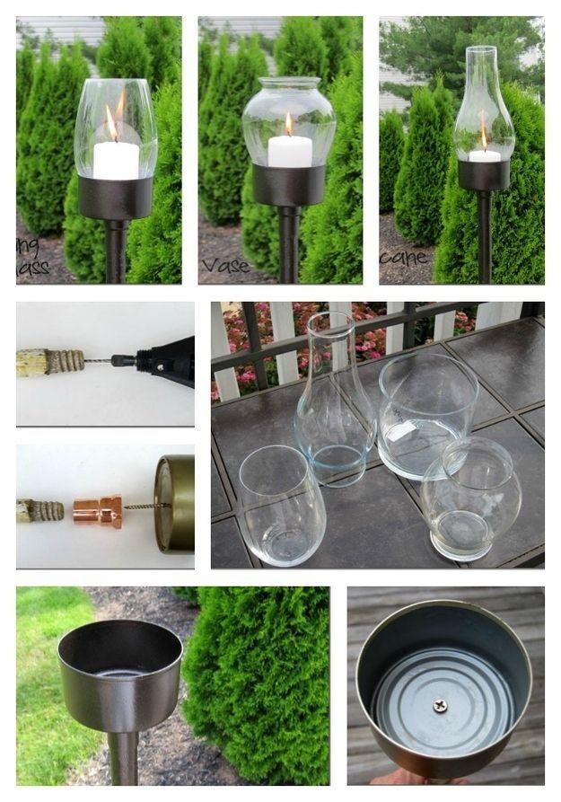 DIY Antorchas para el jardin