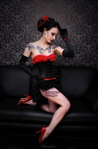 Gorgeous look.: Goth Girl, Fashion, Gothic Beauty, Tattoos, Art, Burlesque, Gothicstyle Pinups