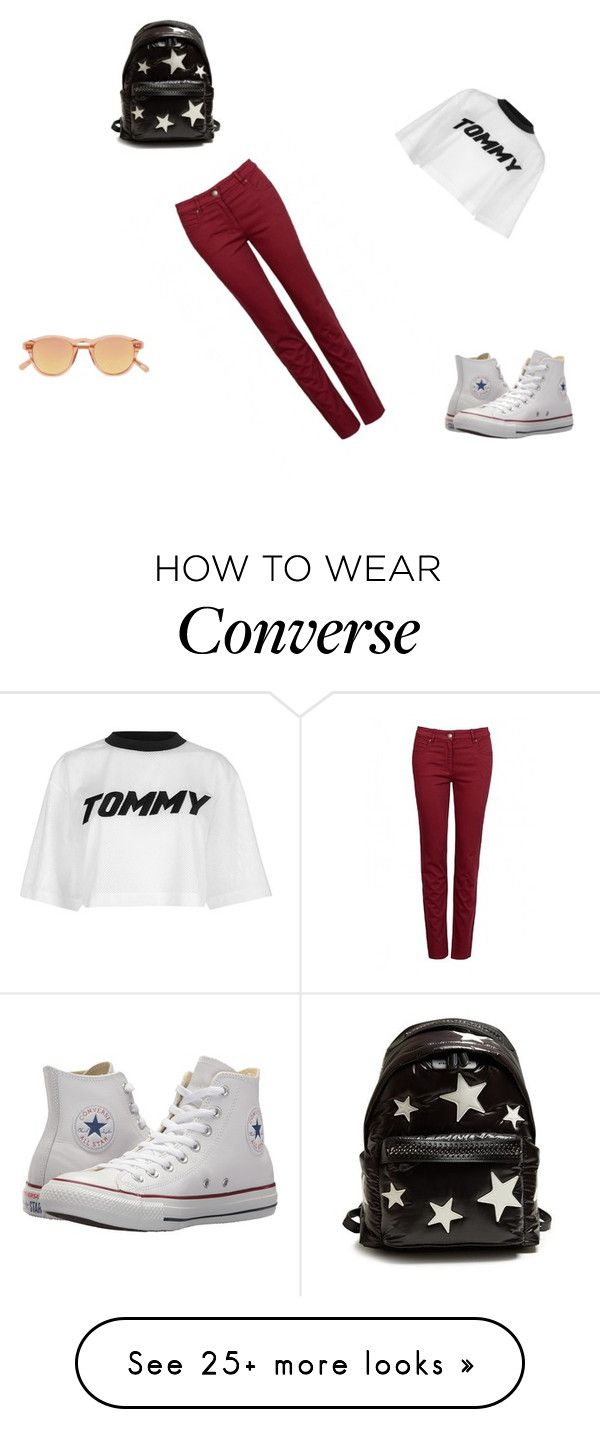 """relax"" by whatever222 on Polyvore featuring Tommy Hilfiger, Converse, STELLA McCARTNEY and Chimi"