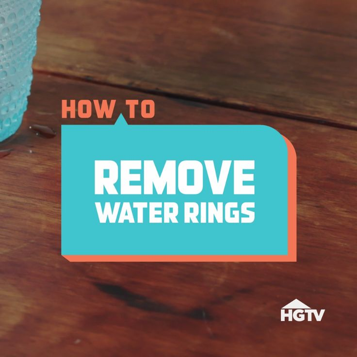 How to Remove Water Rings from Furniture