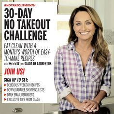 30-Day No Takeout Challenge With Health and Giada De Laurentiis